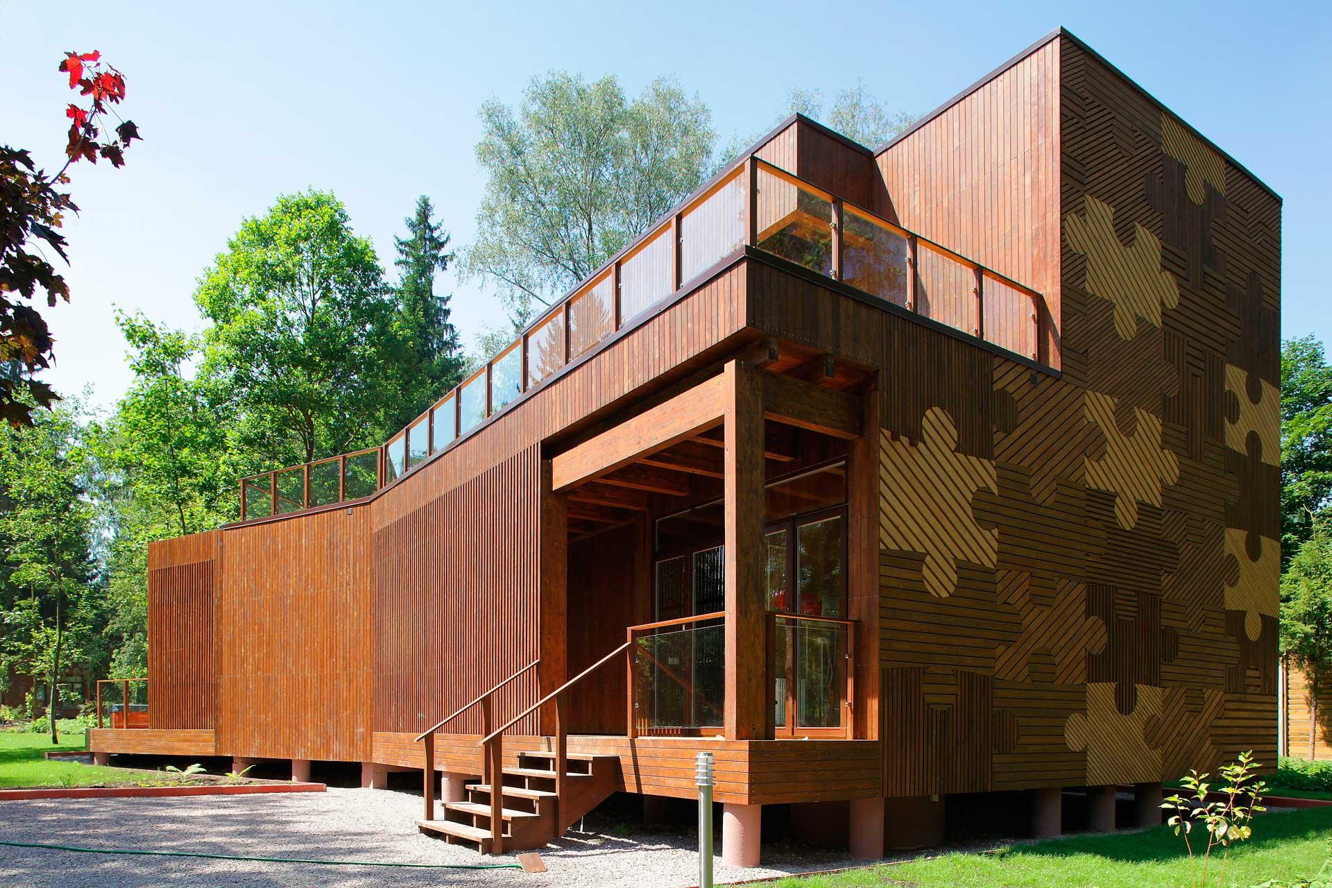 фото дизайнов необычных фасадов домов