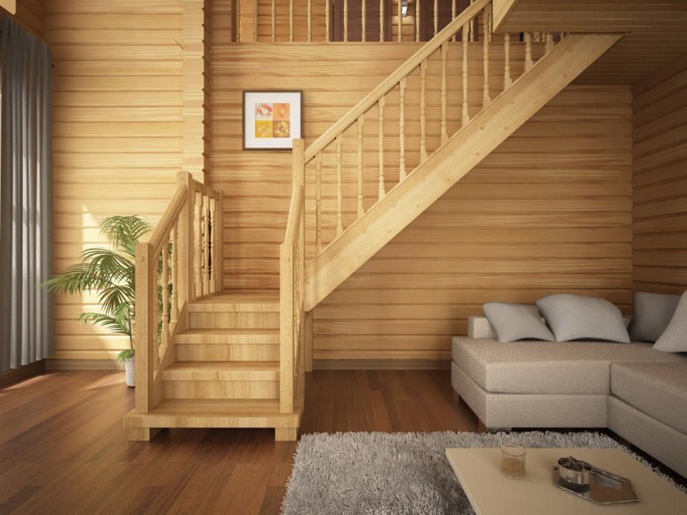 Балясины из дуба для лестницы 60х60х900 Лилия сорт