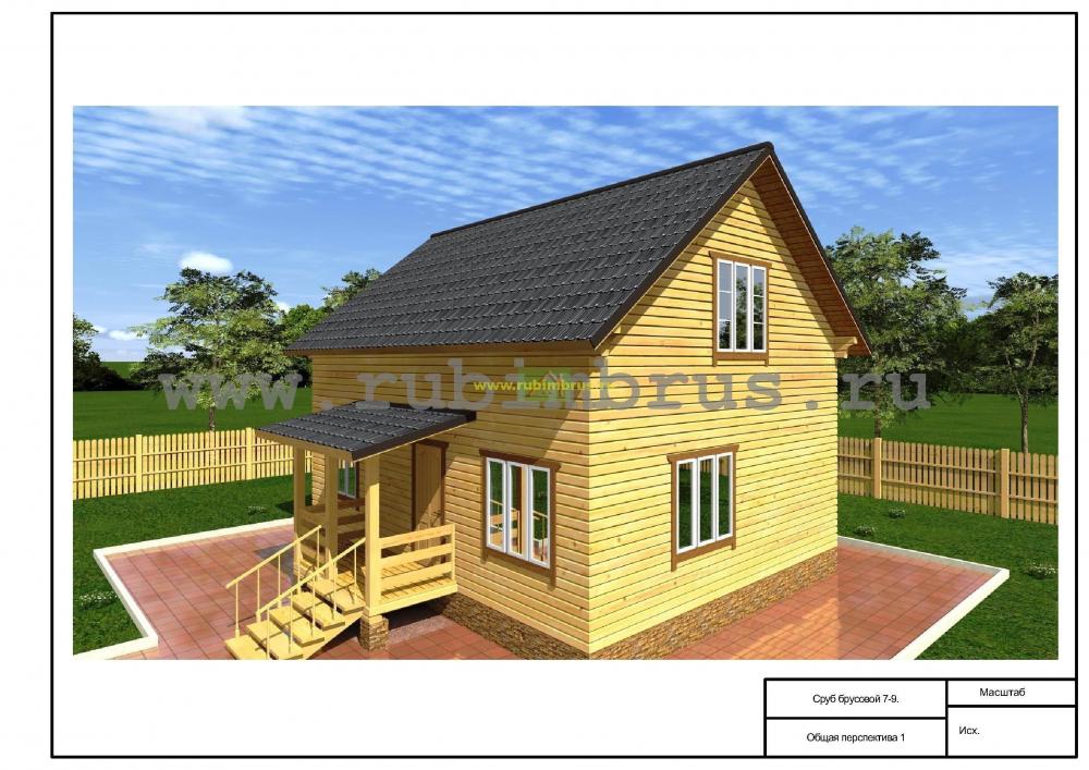 Двухэтажные жилые дома 7x9 в Курске и Курской области