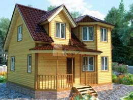 Проект дома из бруса №88 7х8 - БрусПрофСтрой. Проект, цена, фото и отзывы.