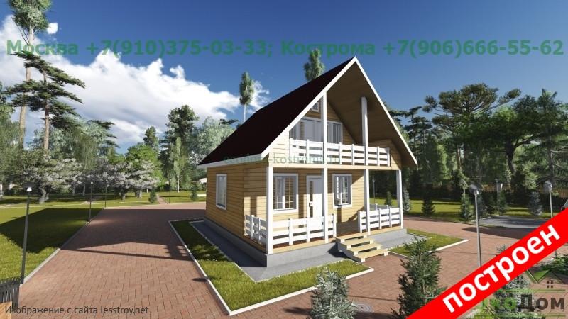 Жилой дом 7x8 в Москве: проекты для строительства с фото и ценами — Лесстрой