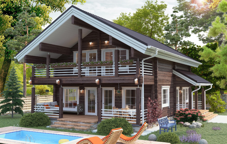 меня фото фасадов двухэтажных деревянных домов система скидок, рассрочка