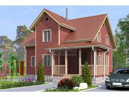 Каркасный дом 9.5 х 10.5 м (Проект К-128-1 Зимний) - ЛесДомТорг. Проект, цена, фото и отзывы.