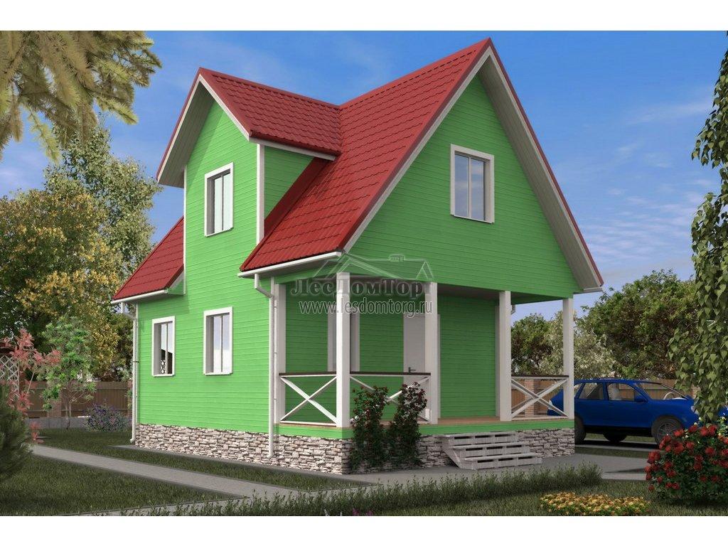 Каркасно-щитовой дом 6x8 Волхов: проекты для строительства с фото и ценами — Лесстрой