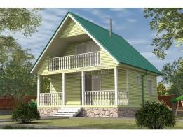 Каркасный дом 6.0x6.0 Байкал-1К (зимняя комплектация) - ЛесДомТорг. Проект, цена, фото и отзывы.