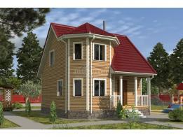 Каркасный дом 7.0x7.0 Флагман-2К (зимняя комплектация) - ЛесДомТорг. Проект, цена, фото и отзывы.